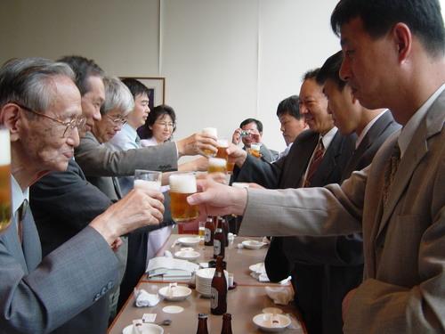 葉駿 上海水産大学学務主任歓迎会